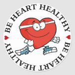Running is Good Exercise for Your Heart Round Stickers