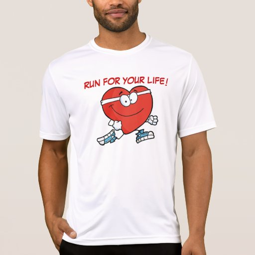 Running is Good Exercise for Your Heart Tee Shirt