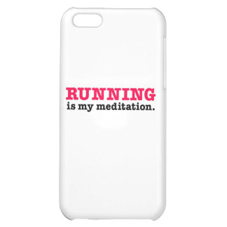 Running Is Meditation (red) Case For iPhone 5C