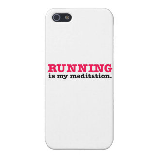 Running Is Meditation (red) Cover For iPhone 5