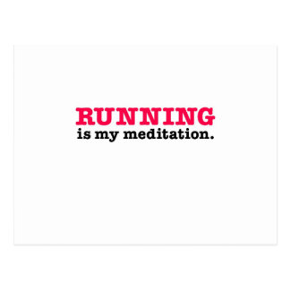 Running Is Meditation (red) Postcard