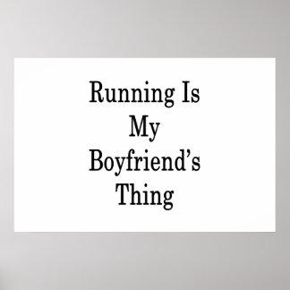 Running Is My Boyfriend's Thing Poster