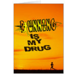 RUNNING IS MY DRUG - CROSS COUNTRY GREETING CARD