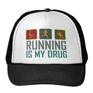 Running Is My  Drug Hats