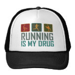 Running Is My  Drug Hats