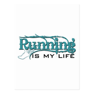 Running is my life (bc) postcard
