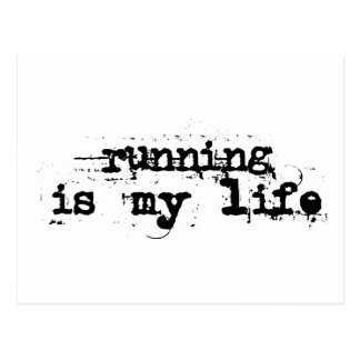 Running is my life postcard