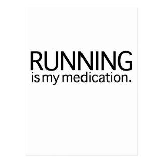Running Is My Medication Postcard