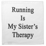 Running Is My Sister's Therapy Napkin