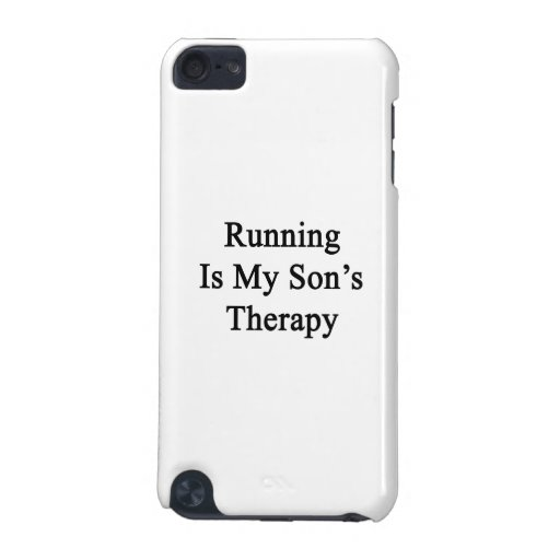 Running Is My Son's Therapy iPod Touch (5th Generation) Cases