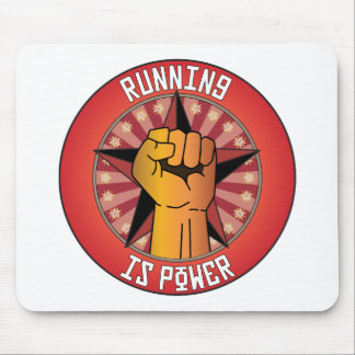 Running Is Power Mouse Pad