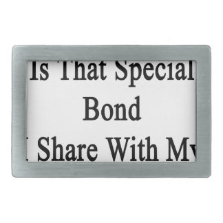 Running Is That Special Bond I Share With My Husba Rectangular Belt Buckle