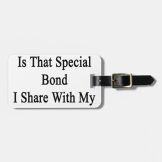 Running Is That Special Bond I Share With My Wife. Bag Tag