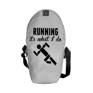 Running It's What I Do Courier Bags