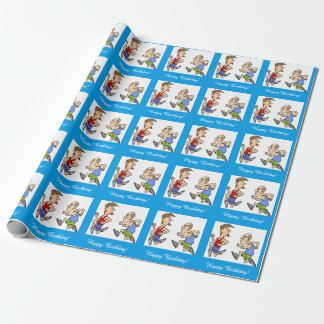 Running Jogging Marathon Party Wrapping Paper