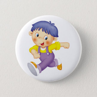 Running Kid Pinback Button