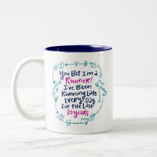 Running Late Two-Tone Coffee Mug