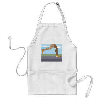 Running legs Coils springs Adult Apron