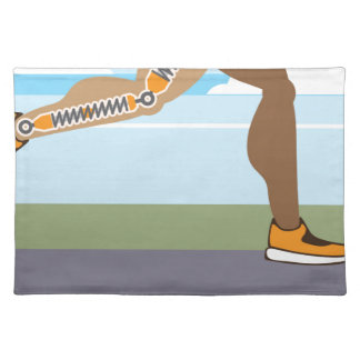 Running legs Coils springs Cloth Placemat