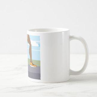 Running legs Coils springs Coffee Mug