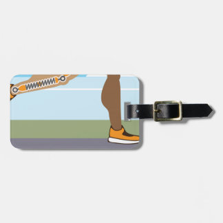 Running legs Coils springs Luggage Tag