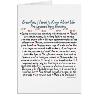 Running Life Lessons Best Of Luck Card