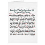 Running Life Lessons Best Of Luck Greeting Card