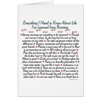 Running Life Lessons Congratulations Greeting Card