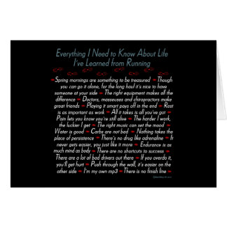 Running Life Lessons Greeting Card