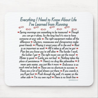 Running Life Lessons Mouse Pad