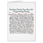 Running Life Lessons Quote Greeting Card