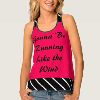 Running Like Wind Rose Sporty Workout CricketDiane Tank Top