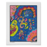 """""""Running Man"""" Abstract Art 8x10 Posters"""
