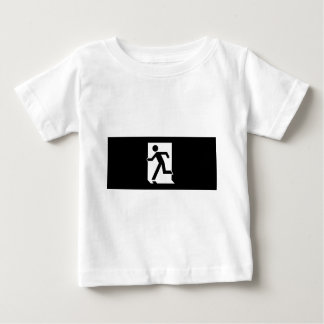 Running Man Emergency Fire Exit Sign Baby T-Shirt