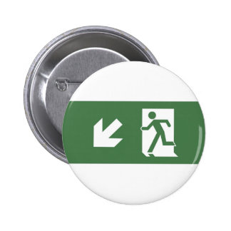 Running Man Emergency Fire Exit Sign Badge