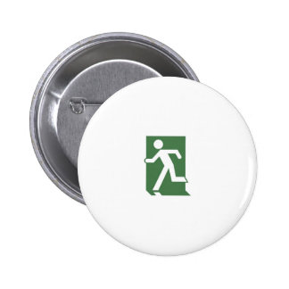 Running Man Emergency Fire Exit Sign Pinback Buttons