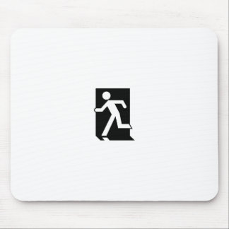 Running Man Emergency Fire Exit Sign Mouse Pad
