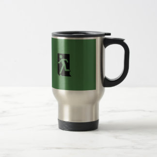 Running Man Emergency Fire Exit Sign Coffee Mugs