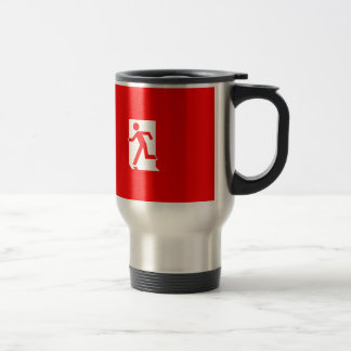 Running Man Emergency Fire Exit Sign Mugs