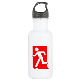 Running Man Emergency Fire Exit Sign 18oz Water Bottle