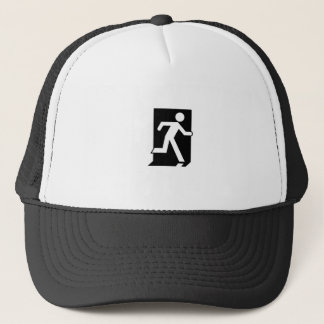 Running Man Emergency Fire Exit Sign Trucker Hat