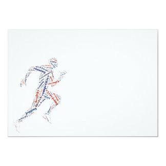 Running man 5x7 paper invitation card