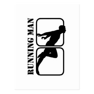 Running Man jogging sports motif  1 Postcard