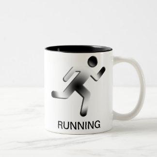 Running Man Silhouette Mug