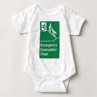 Running Man Wheelchair Evacuation Chair Sign Baby Bodysuit