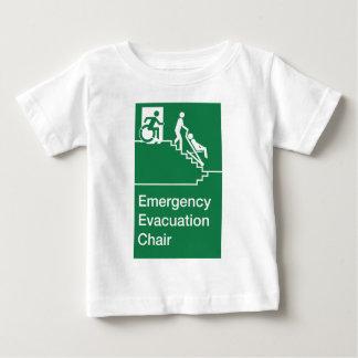 Running Man Wheelchair Evacuation Chair Sign Baby T-Shirt