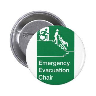 Running Man Wheelchair Evacuation Chair Sign Pin