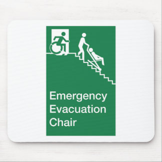 Running Man Wheelchair Evacuation Chair Sign Mouse Pad