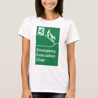 Running Man Wheelchair Evacuation Chair Sign T-Shirt