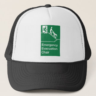 Running Man Wheelchair Evacuation Chair Sign Trucker Hat